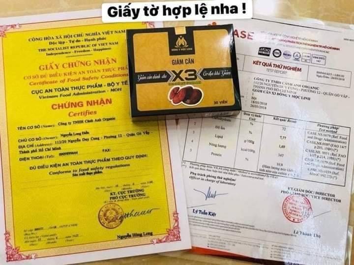 Giấy chứng nhận VS ATTP & kiểm nghiệm của Sở KH & CN Ho Chi Minh