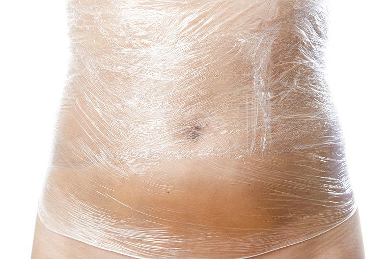 Quấn bụng dùng nilong và Gel tan mỡ X3 Slim