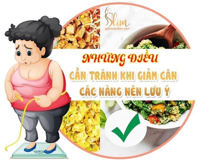 Những sai lầm khi giảm cân mà bạn cần tránh - Giảm cân Slim X3