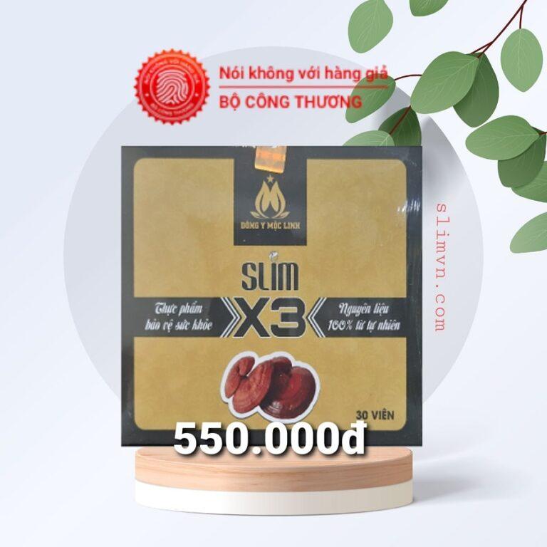 Slim X3 chính hãng - Giá niêm yết 550.000đ - Cẩn trọng khi mua phải hàng giả và kém chất lượng