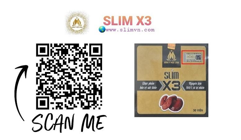 QR code Slim X3 chính hãng giúp Quý khách nhận biết thông tin chi tiết, chính xác nhất về sản phẩm và nhà sản xuất để chống hàng giả hàng nhái